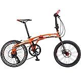 DOPPELGANGER 20インチ 折りたたみ自転車 パラレルツインチューブフレーム採用モデル BLACKMAXシリーズ mobility-six 211-OR