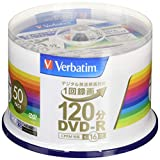 三菱ケミカルメディア Verbatim 1回録画用DVD-R(CPRM) VHR12JP50V4 (片面1層 1-16倍速 50枚)