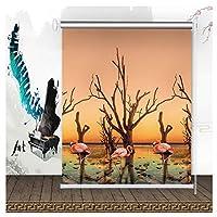 防水 窓カーテン 家の装飾 日焼け止め オクルージョンプライバシー シェーディング率100% 、2色 、34サイズ (Color : B, Size : 90cmx200cm)