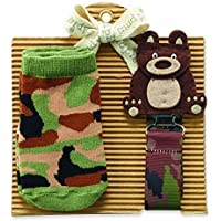 Mud Pie Bear Sock and Pacy Set by Mud Pie [並行輸入品]
