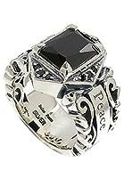 新宿銀の蔵 BULLET PEACE ブラックジルコニア アラベスクシルバーリング 9~23号 (21号) メンズリング 指輪 メンズ