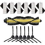 SNOWINSPRING 交換用アクセサリー ILIFE A4ロボット掃除機用 - HEPAフィルタースポンジメインブラシサイドブラシ