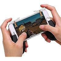 荒野行動コントローラー 10代目 射撃ボタン androidゲームパッド 透明 pubg 広野行動 荒野行動対応 ジョイスティック 押しボタン式 スマホ用 感応式 左右適用iPhone/Android 各種ゲーム対応可能8213T102種類セット