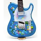 [Musical Story] ミニチュア ギター 楽器 テレキャスター スタイル Blue Flower