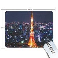 マウスパッド 東京タワー柄 疲労低減 ゲーミングマウスパッド 9 X 25 厚い 耐久性が良い 滑り止めゴム底 滑りやすい表面