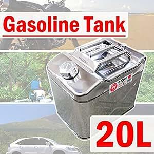 ステンレス製 ガソリン携行缶 UN規格 縦型 ワイド 20L 缶