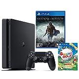 PlayStation 4 ジェット・ブラック 500GB【Amazon.co.jp限定】オリジナルカスタムテーマ配信+シャドウ・オブ・モルドール