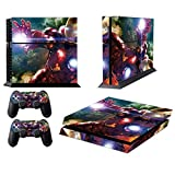 BEAMS MightyStickers? Protective Vinyl Skin Decal Cover for Sony PlayStation 4 PS4 Console & Remote DualShock 4 Controller Sticker Skins - Avengers Hero Iron Man Shooting Beam by MightyStickers [並行輸入品]