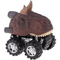 Perfk 恐竜車モデル 引き戻し車 おもちゃ 子供 贈り物 全4選択 - #3