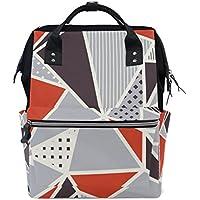 ママバッグ マザーズバッグ リュックサック ハンドバッグ 旅行用 抽象的 三角形柄 ファション