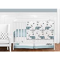 Sweet Jojo Designs 11-Piece Bear Mountain Watercolor Baby Boy Crib Bedding Set without Bumper s [並行輸入品]
