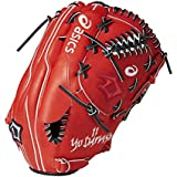 asics(アシックス) 硬式 野球用 グローブ ダルビッシュ モデル 投手 (右投げ用) 一般用 プロフェッショナルスタイル BGH711 サイズ13 レッド 指カバー付き 2017年モデル