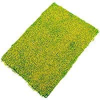【ノーブランド品】芝生マット グラスマット  鉄道模型?ジオラマに 20 x 30cm 黄色花