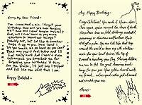 Quiplip Handwritten Yours 真のバースデーカード 6枚パック (YT07086PCK)