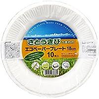 大和物産 使い捨て食器 ホワイト 18cm エコペーパープレート 10枚入