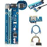 ELEGIANT USB 3.0 PCI-E Express 1x-16xエクステンダーライザーカードアダプター 延長ケーブル エクステンダーライザーカードアダプター (60cm)