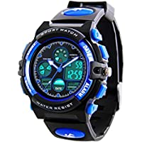 Kids Digital Sports Watches - Boys Waterproof Sport Watch with Alarm Stopwatch, LED Analog Wrist Watch with Chronograph, Alarm for Childrens