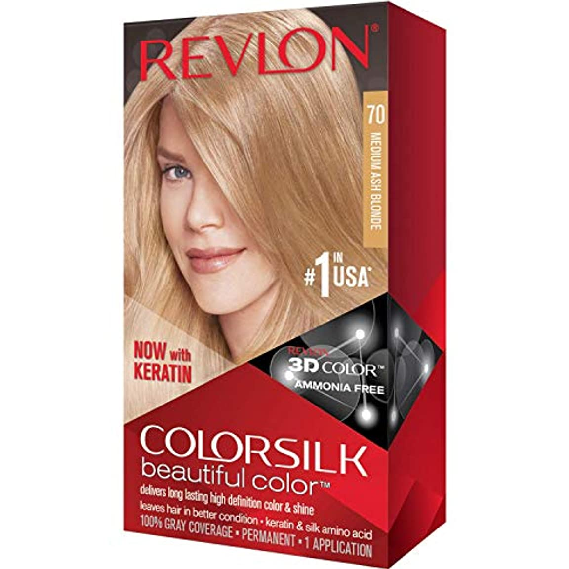 ドラム無視できるブロックする海外直送品Revlon Colorsilk Natural Hair Color, 7A Medium Ash Blonde each by Revlon