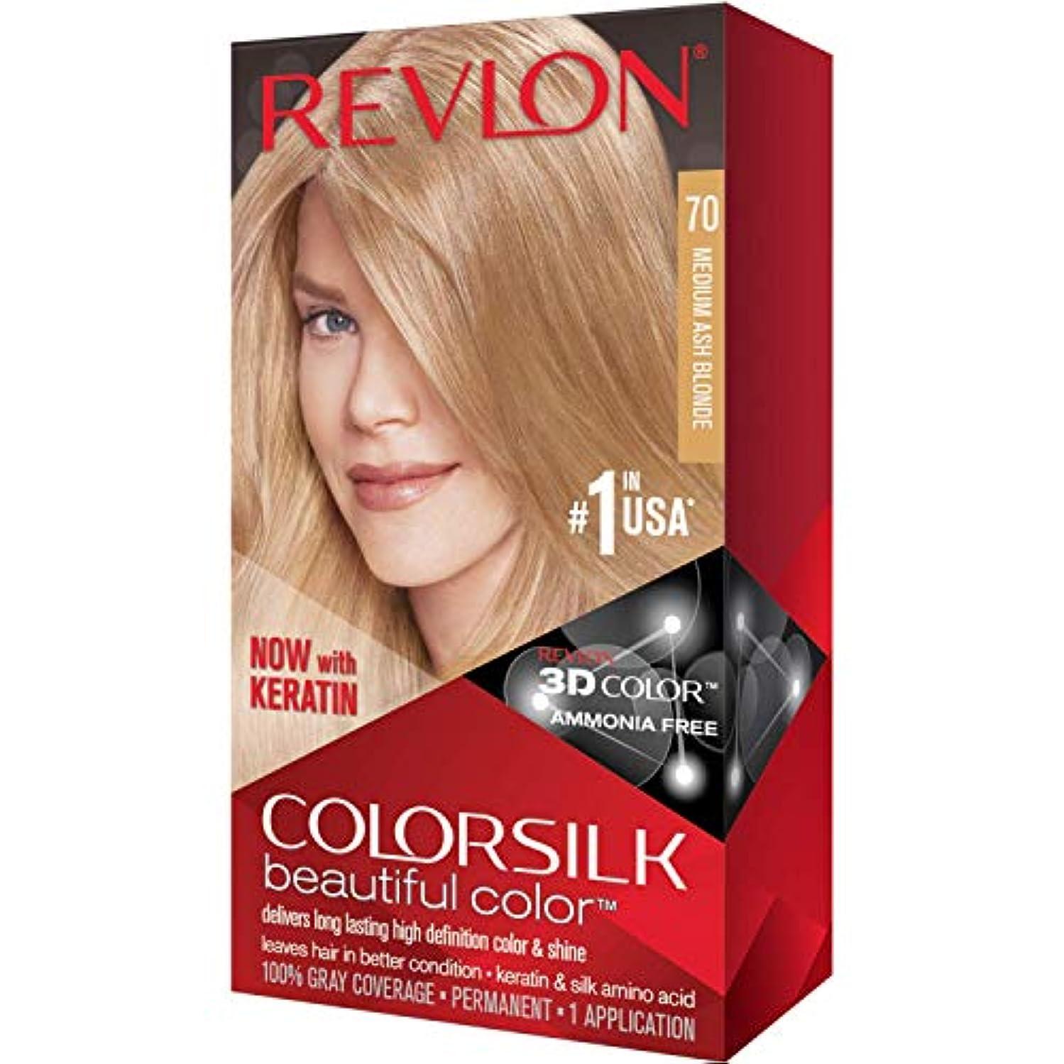 使い込む満州バー海外直送品Revlon Colorsilk Natural Hair Color, 7A Medium Ash Blonde each by Revlon