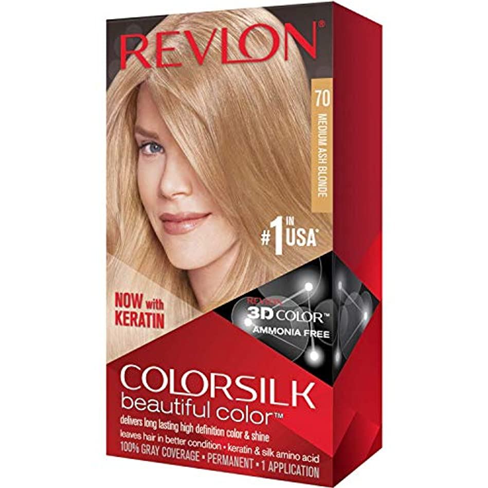 ピンチ排除する植物の海外直送品Revlon Colorsilk Natural Hair Color, 7A Medium Ash Blonde each by Revlon