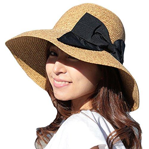 折りたためるつば広 麦わら帽子 紫外線対策最適 UVハット 夏 ストローハット uvカット帽子 レディース帽子 小顔効果 日よけ帽子 旅行も運動会も
