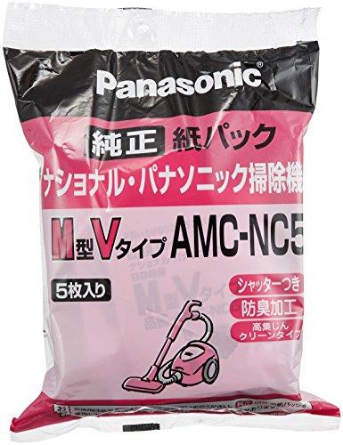 パナソニック 交換用紙パック M型Vタイプ 5枚入 AMC-NC5