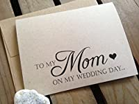 To My MOM on my WEDDING Day - Note Card - Kraft Brown - RUSTIC - Recycled - Eco Friendly [並行輸入品]