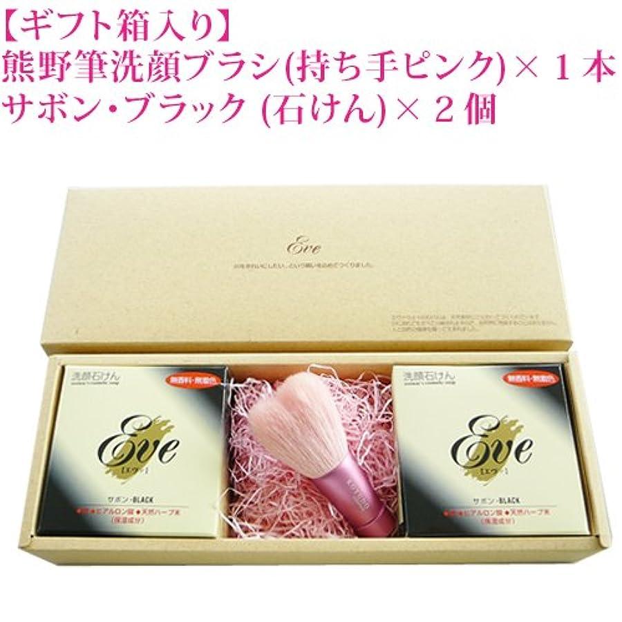エール脅威公爵熊野化粧筆 洗顔ブラシ&化粧せっけん セット ピンク