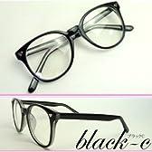 アラレちゃん タイプ 伊達メガネ 眼鏡 メンズ レディース デカレンズ (ブラックc)