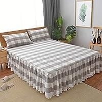 コットン ベッド スカート,寝具の余分な手入れが簡単な塵耐フェード ベッド カバー シート-D 120x200cm