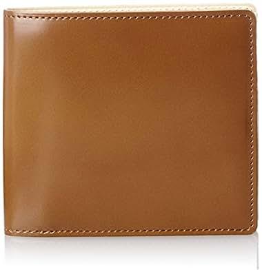 [ルエゴ] LUEGO コードバン 小銭入れなし二つ折り財布 MWCV-12 BR (ブラウン)