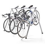 サンワダイレクト 自転車スタンド 駐輪場 サドル引掛け式 最大5台 ロード/クロス バイク 対応 800-BYST5