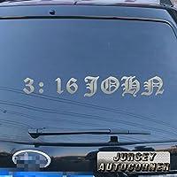 3s MOTORLINEジョン3: 16デカールステッカー車ビニールBible God Jesus Christ Pickカラーサイズ 32'' (81.3cm) ブラック 20180402s26