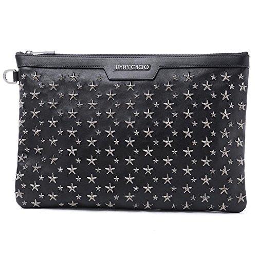 [ジミーチュウ] JIMMY CHOO クラッチバッグ バイカ―レザー バッグ 鞄 かばん DEREK BLS ブラック Free