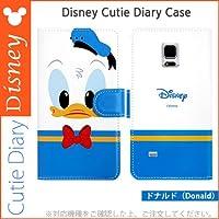 [Disney ディズニー Cutie Diary 手帳型]Galaxy S6 Edge ドナルドダック