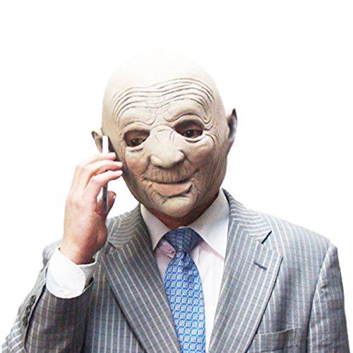 バラエティ本舗 しわしわ はげ おじさん マスク [ かぶりもの 仮面 お面 老人 坊主 スキンヘッド ハロウィン 仮装 なりきりマスク ]