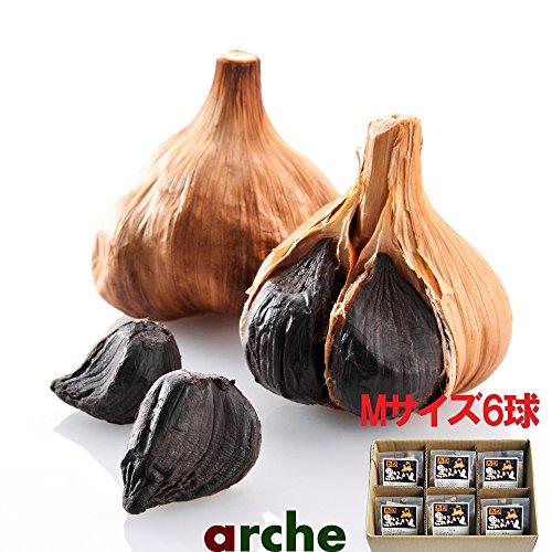 青森県産 ニンニク 熟成 黒にんにく Mサイズ個包装 6球箱入り
