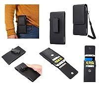DFV mobile - Magnetic leather Holster Card Holder Case belt Clip Rotary 360º for => LENOVO LEMON K3 NOTE K50-T5 (2015) > Black