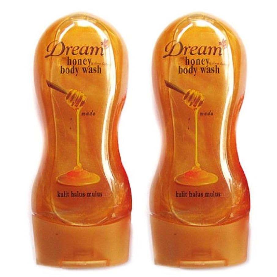 寝る会う面白いDream(ドリーム) ハニー&シアバター ボディウォッシュ250ml 2本セット [並行輸入品][海外直送品]