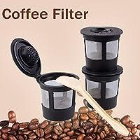 Newcomdigi 3本/セットコーヒーフィルターカップコーヒーシステム再使用可能フィルター