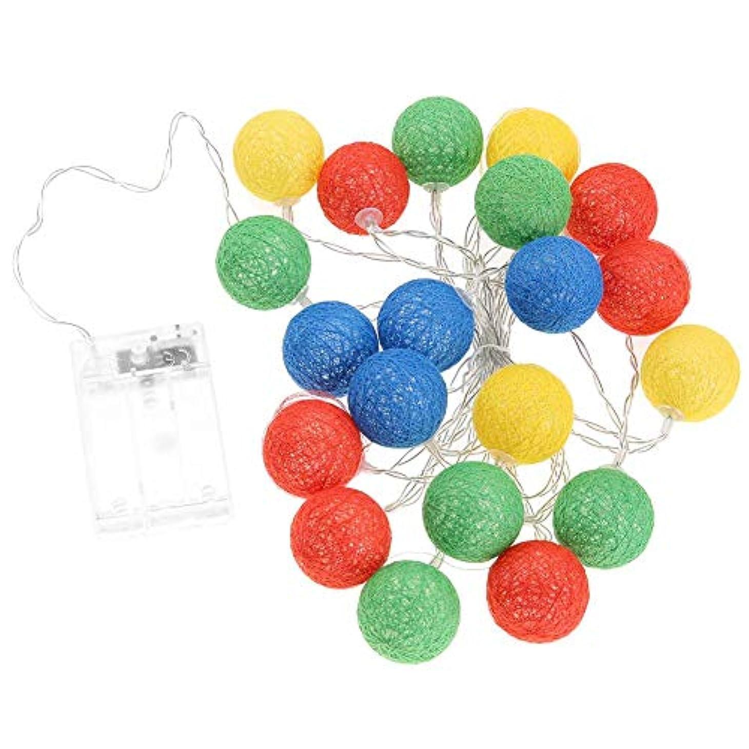 ピラミッド惑星鋸歯状Salmue 2.3 mカラーコットンボールストリング20 LEDボールストリングクリスマス、芝生、風景、妖精の庭、家族、結婚式、休日、クリスマスツリー、パーティーヤーンボールインテリアライト(赤)