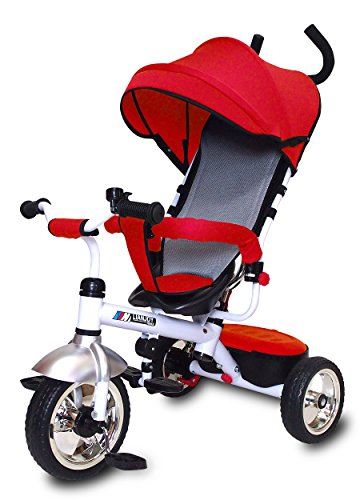 JTC(ジェーティーシー) ベビー用品 3 in 1 Tricycle かじとり三輪車 レッド・J-...