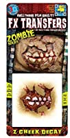 3Dタトゥーシール FX TRANSFERS Zombie Cheek Decay