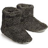 スリッパ 冬 北欧 暖かい もこもこ ルームシューズ ル ームブーツ 可愛い 靴 おしゃれ 滑り止め 静音 シューズ 洗濯可室内履き専用 冬専用 男女兼用 (ブラウン, XLサイズ 26.5-27.5cm)