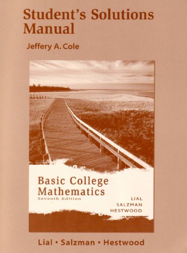Download Student Solutions Manual for Basic College Mathematics 0321279387