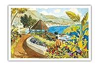 ラグナビーチ ガゼボ - Heisler パーク - カリフォルニア州ラグナビーチ - オリジナルの水彩画からのもの によって作成された ロビン アルトマン - アートポスター - 31cm x 46cm