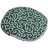 パール金属 湯たんぽ カバー 小判型 和柄 唐草 緑 MK-2258