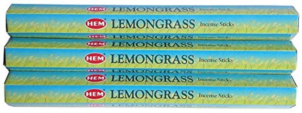 の前で旅客花火HEM レモングラス 3個セット