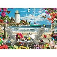 Marschaoシーサイドビューdiy 5dフルドリルダイヤモンド絵画刺繍クロスステッチキットラインストーンモザイク家の装飾クラフト