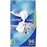 Always Infinity Feminine Pads for Women, Size 2, Heavy Flow Absorbency, with Wings, Unscented, 32 Count - Pack of 3 (96 Count Total) (Packaging May Vary)